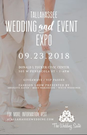 Join us for the 2018 Tallahassee Wedding & Event Expo!