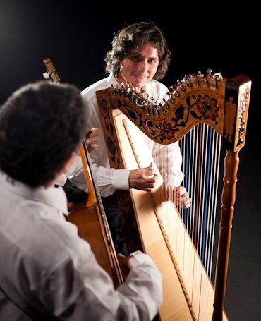 Harpist Nicolas Carter with guitar accompaniment