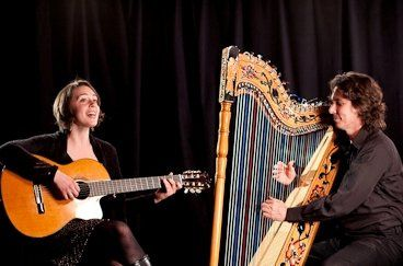 Harpist Nicolas Carter with vocalist