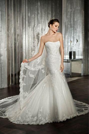 Silvery white dress
