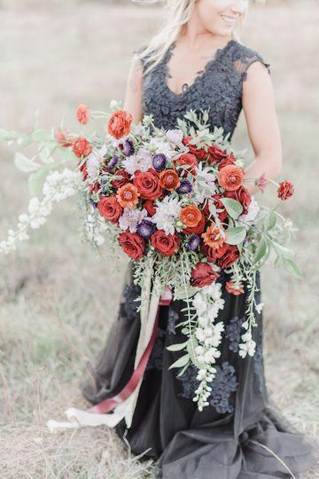 Bride in grey