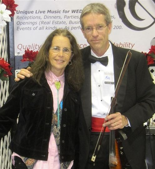 With the violinist