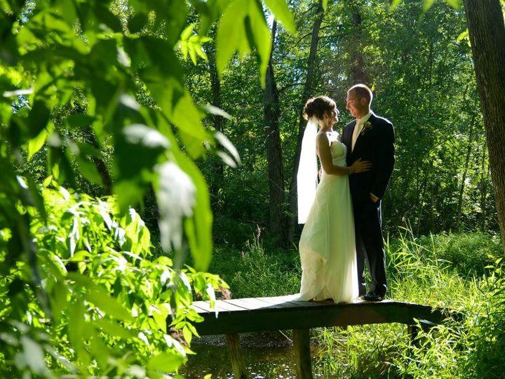 Tmx 1354375798699 CoupleonthebridgeatRiversideReceptions Centreville, MI wedding venue