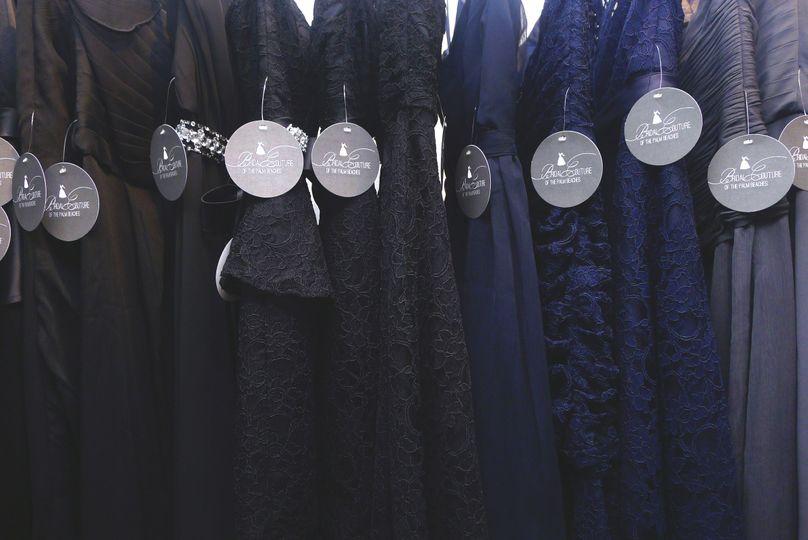 Dark colored dresses