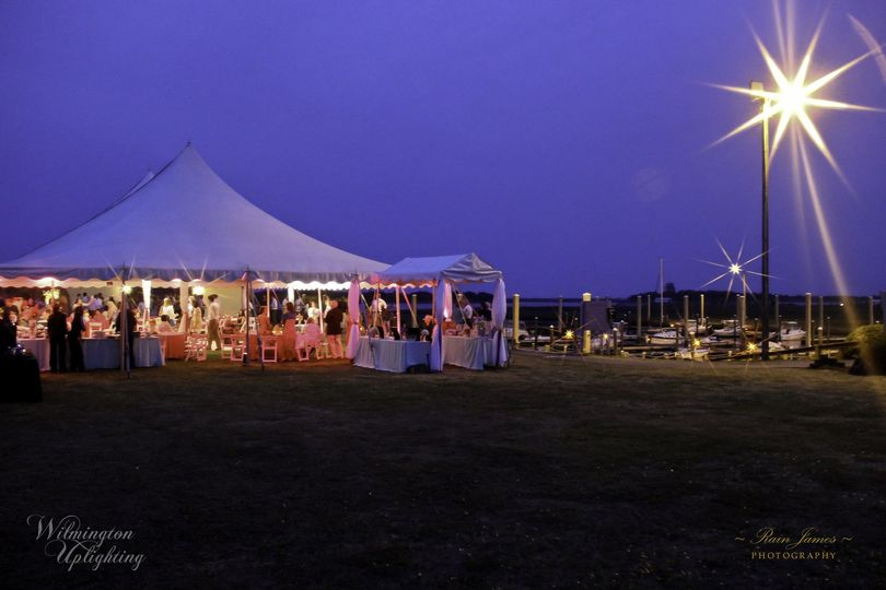 full tent event lighting wilmington uplighting w logo