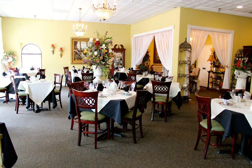 the empress tea room with divine menus catering - venue - tampa