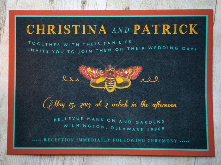 Tmx 1370962376431 Butterflyinvite 003 Wilmington wedding invitation