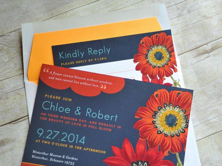Tmx 1371961685720 Redflowers 003 Wilmington wedding invitation