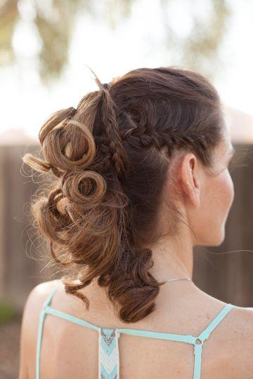 Curls and braid