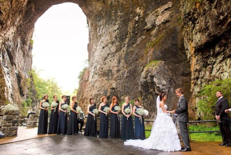 Ceremony under bridge