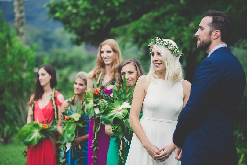 Wedding ceremony ongoing | Photo by Maui Maka Photography