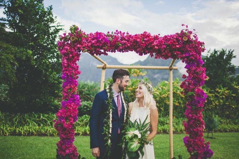 Wedding arch | Photo by Maui Maka Photography