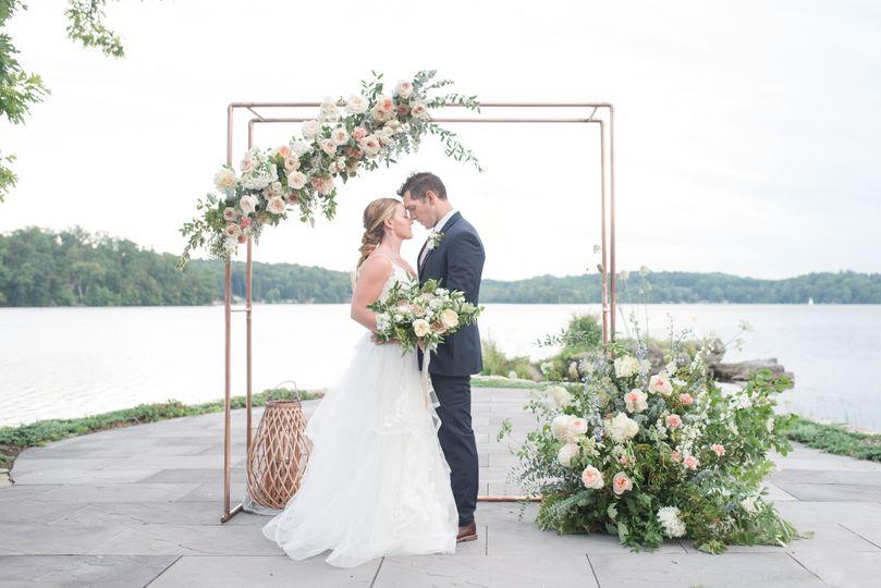 Couple enjoying their ceremony