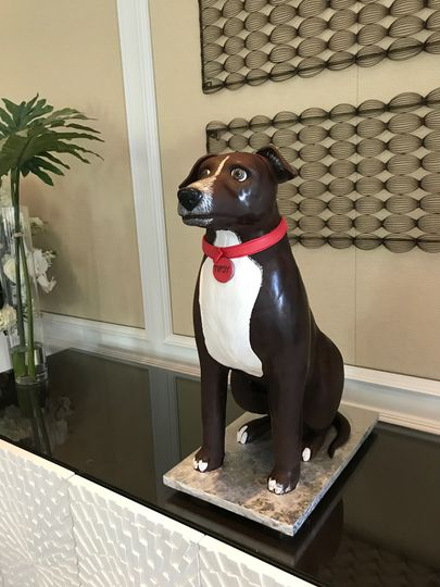 """""""Tipsy"""" the Dog - a surprise groom's cake"""