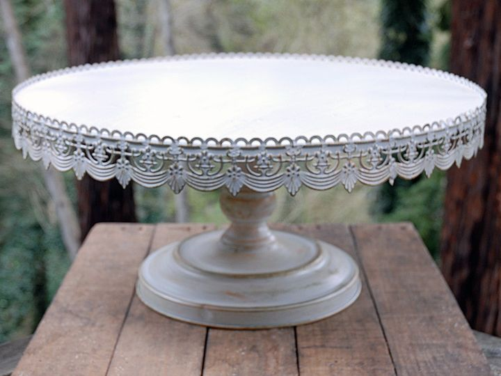 Tmx 1426623022241 Vintage Metal Cake Stand White 22 1 Marlboro wedding rental