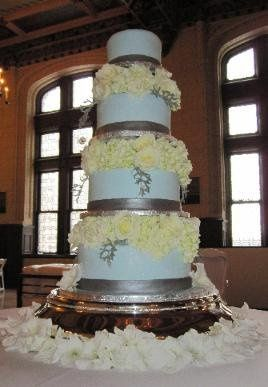 Tmx 1262899228997 Blueandsilerwedding Overland Park wedding cake