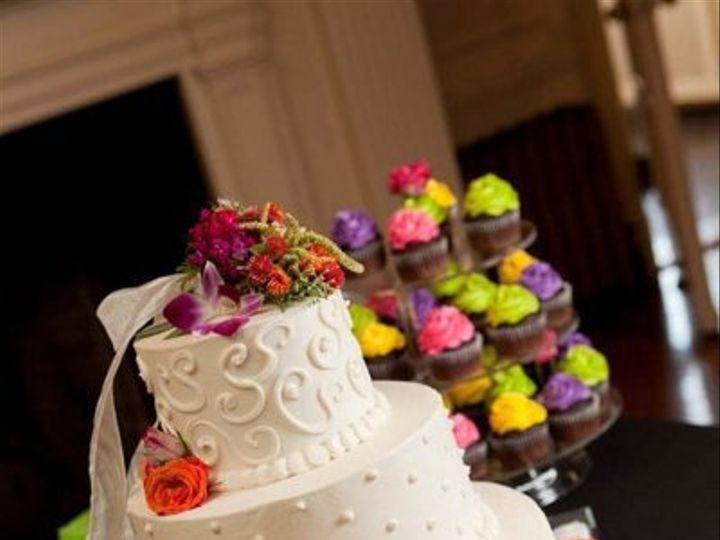 Tmx 1310449279840 Whiteswirlweddingcakeandcolorfulcc Overland Park wedding cake
