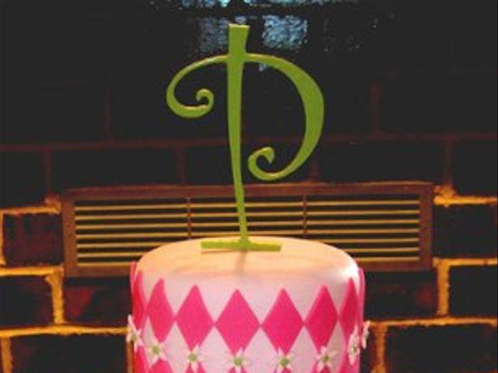 Tmx 1310449667532 Pfondantpinkandgreen Overland Park wedding cake