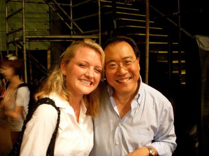 Owner, Megan with Yo-Yo Ma