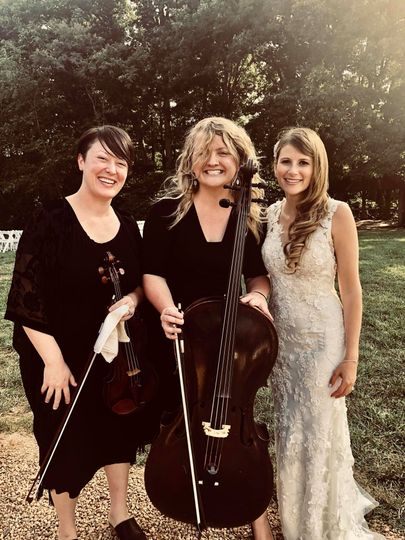 String duo at The Farm