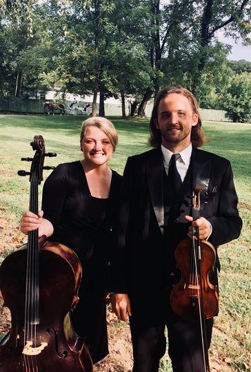 String duo at Hidden River