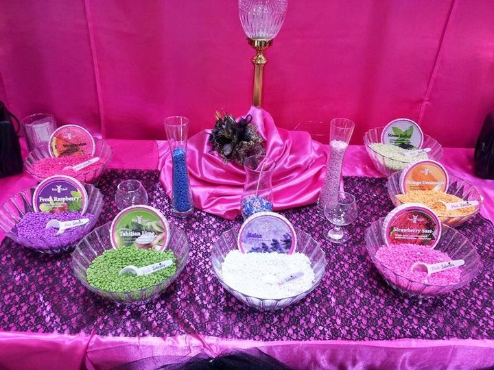 Pink Zebra Pz Wedding Candle Bar Pic 4