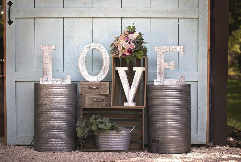 Love in big letters