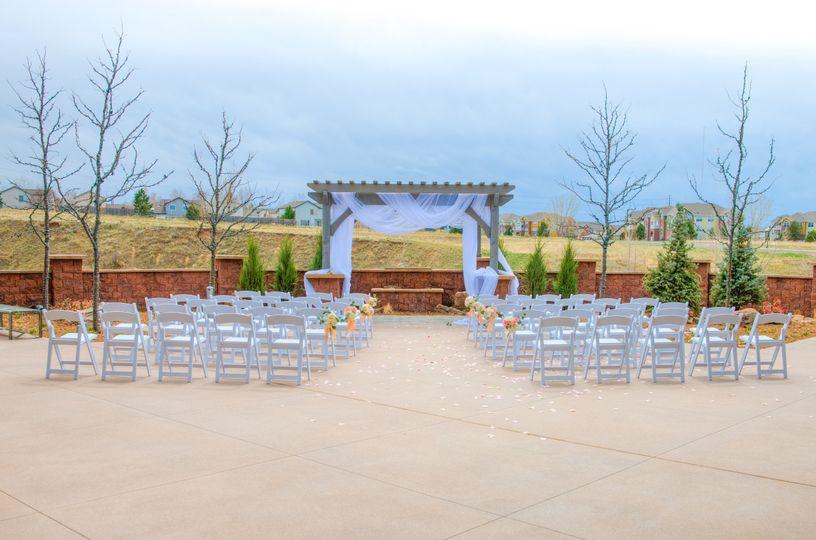 pace patio wedding