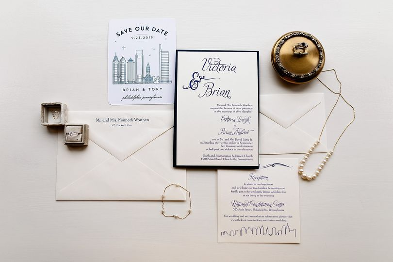 Illustrated save-the-dates