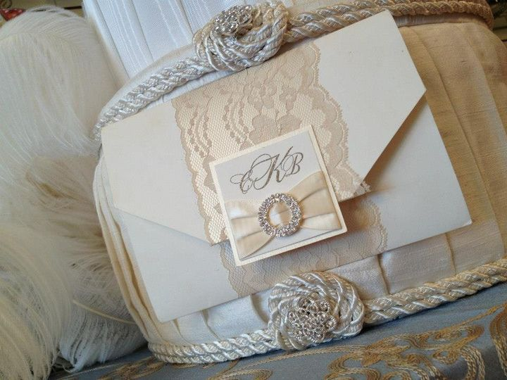 White invitation card
