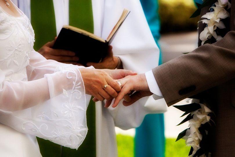 Wedding ceremony in Hawaii.