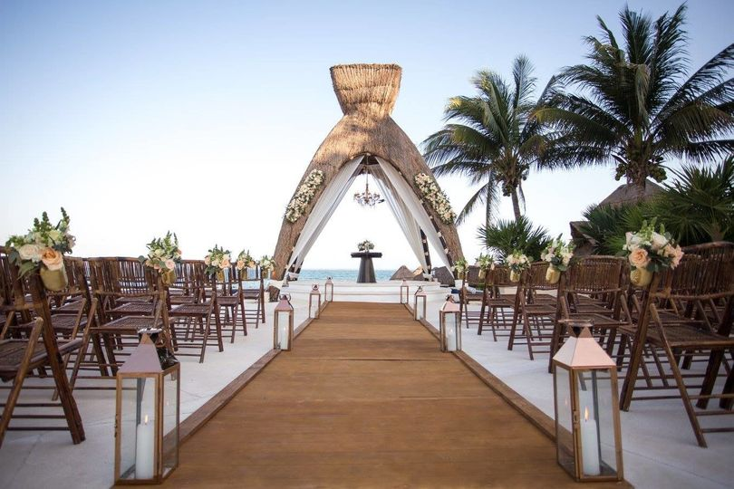 Destination wedding ceremony space