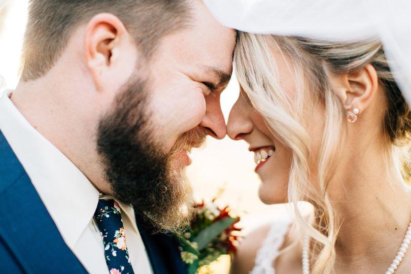 bride groom smile under veil 51 782576 v1