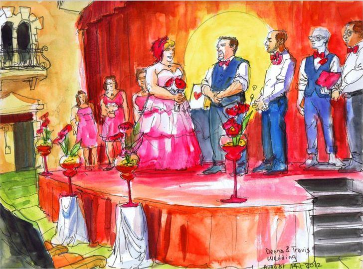 Theater wedding.