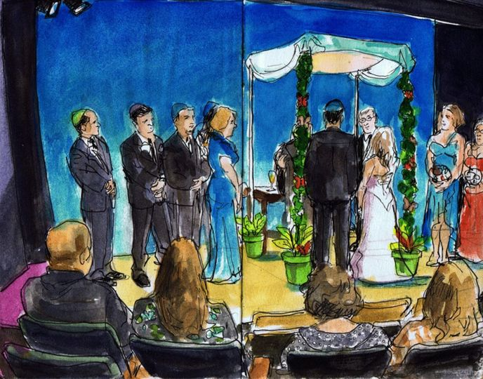 Shakespeare Theater wedding.