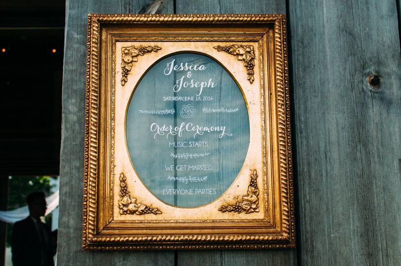 Wedding Reception Signage