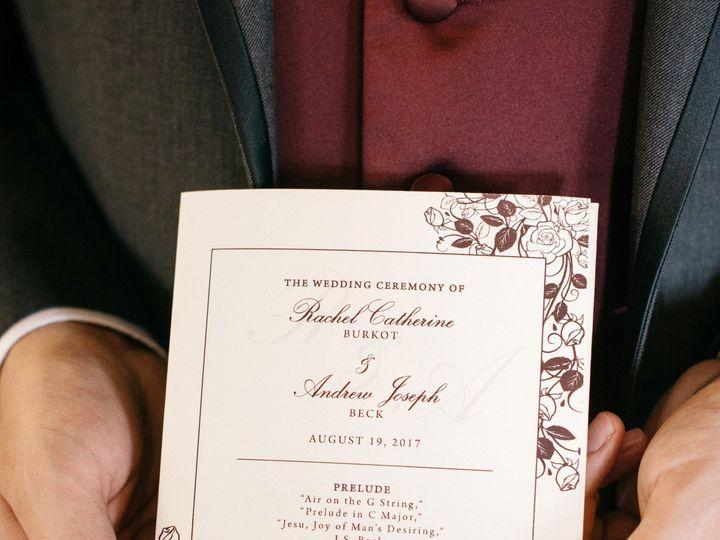 Tmx 1513135932327 Paper By Jleebeck Wedding Program New York, NY wedding invitation