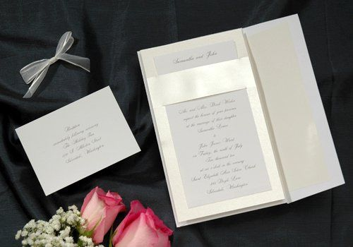 Satin Ribbon Wedding Invitation -