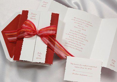 Tmx 1270969652554 RedWhiteGatefoldBirchcrafte9434CR Tustin wedding invitation
