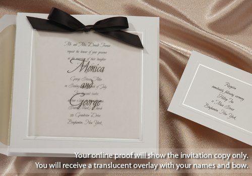 Tmx 1270969653445 SqBlackbowwithOverlaynamesBirche20781BW Tustin wedding invitation