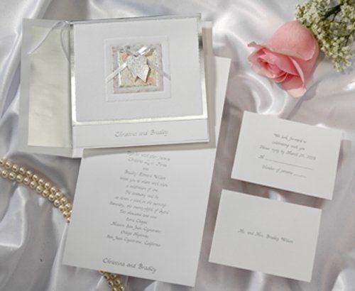 Tmx 1270969702289 Silver3HeartsBowpearlsBircheH427 Tustin wedding invitation