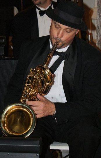 Bernie on baritone sax