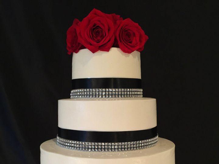 Tmx 1446146832973 Black Ribbon Wedding Cake With Blingipiccy Costa Mesa wedding cake