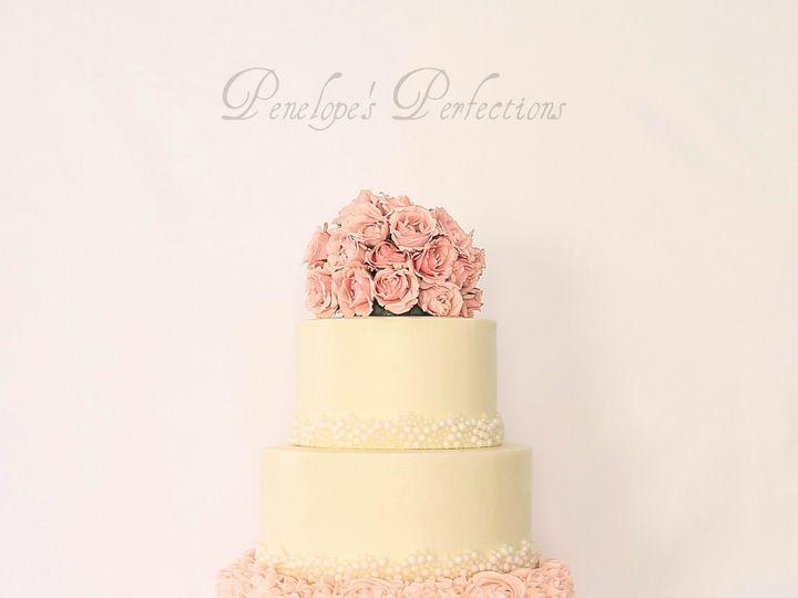 Tmx 1456095341768 Pearlsandrosesipiccy Costa Mesa wedding cake