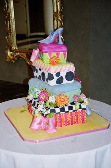 A unique and fun cake for the bride in search of something totally different....