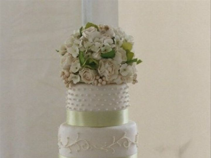 Tmx 1182354405484 WhiteandSage Bridgeton wedding cake