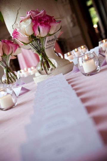 Pink table cloth