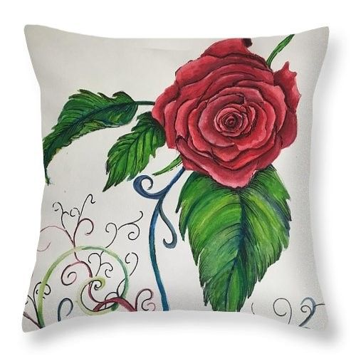 whimsical red rose amy brown 1