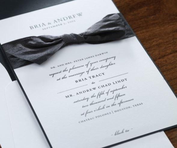 Elegant black ribbon