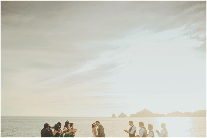 Land's end Wedding at Los Cabos